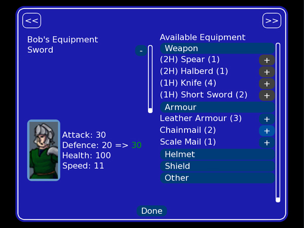 Equipment Screen Preview